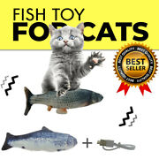 Newly Arrived Usb Electric Charging Dancingjumpingmoving Fish Toy For Cats