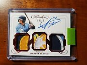 2020 Flawless 🔥wander Franco🔥 Triple Patch Auto 8/10. Nasty Patches