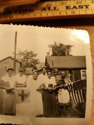Rare African Americans Church Females Holding There Bibles An Flags