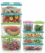 New Tupperware Clearmates Storage Containers Set Refrigerator Bowls Seals New