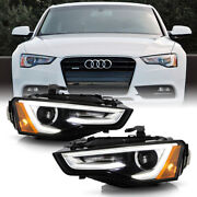 Oe Style Xenon Type Led Drl Projector Headlamp Pair Set For 13-17 Audi A5 S5