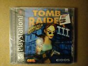 Sony Playstation 1 Ps1 Tomb Raider Iii 3 Video Game Sealed New Hang Tab