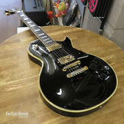 Orville By Gibson Les Paul Custom Black W/ Gold Parts Made In Japan 1990 U1431