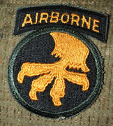 Ww 2 Us Army 17th Airborne Division Patch Attached Tab Rare Inv C885