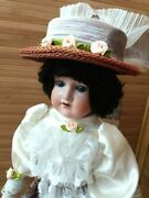 Antique Doll Germany Armand Marsel1916 Porcelain Head And A Leather Body Marked