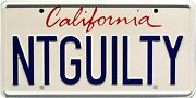 The Lincoln Lawyer   Ntguilty   Metal Stamped License Plate