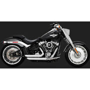 Vance And Hines Chrome Short Shots Staggered Exhaust - 17235 No Ship To Ca