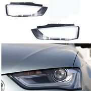 2013 2014 2015 Fit For Audi A4 Left Right Headlight Headlamp Lens Crystal Covers