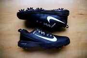 Nike Lunar Command 2 Black Golf Cleats Shoes Size 7 New 880120-001 Black White