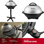 George Foreman, Silver, 12+ Servings Upto 15 Indoor/outdoor Electric Grill, Ggr5