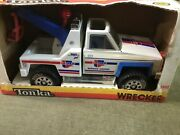 Vintage Tonka Tough Ones Car Quest Wrecker, Pressed Steel Toy Barn Find