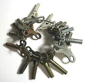 Multi Small - Antique Clock Keys - Most Iron And Brass
