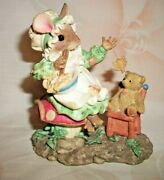 Enesco Mouse Tales Little Miss Muffet There's Nothing To Fear.. Figurine