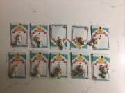 Precious Moments- Home For The Holidays Collection Mini Ornaments Set Of 14 1996