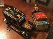 Air Terminal Baggage Truck And Tin Litho Old Jalopy Friction Toy Japan Marx