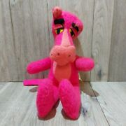 Vintage Mighty Star Plush Pink Panther Stuffed Animal Doll Toy 1964