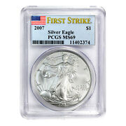 2007 1 American Silver Eagle Ms69 Pcgs - First Strike