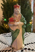 Homco Nativity 5216 Replacement Wise Man King Red Crown Porcelain Figurine