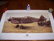 Shark Sighting By John Shaw Signer's Proof Signed By 15 Original Flying Tigers
