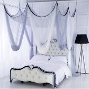 8 Doors Curtain Bed Canopy Mosquito Net Double Colors Princess Curtain Tent Cute