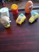 Vintage Wendy's Kids Meal And Mcdonalds Happy Meal Toy Lot Nugget Fries Shake Used