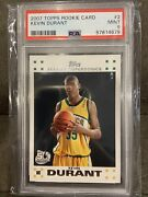 2007-08 Topps Rookie Card 2 Kevin Durant Rookie Rc Psa 9 Mint 137 Mf