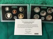 2019-s 10 Coins Silver Proof Set Complete Box And Coa No Extra Penny