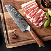 Japanese Damascus Knives 7and039and039 Stainless Steel Chef Knife 67 Layers Free Shipping