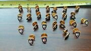 25 Vintage Army 65th Division Sweetheart Jewelry Gold Tone Pins Dealers Lot