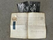 George Iii And Earl Of Bute Signed Military Appointment Of Lucius Ferdinand Cary