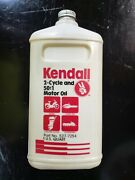 Kendall 2-cycle And 501 Motor Oil 1qt Sae 30 Moped Chainsaw Outboard Snowmobile