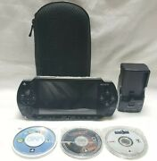 Sony Playstation Psp 1001 Bundle Read Charger 3 Games 512mb God Of War Sims 2