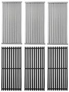 Non-stick Cast Iron Grill Cooking Grates, Stainless Steel Emitter Plate