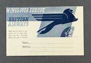 British Airways Vintage Airline Issue Postcard 1930's Business Reply