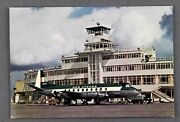 Aer Lingus Vickers Viscount Dublin Airport Airline Issue Postcard