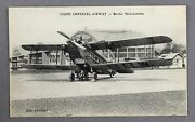 Imperial Airways French Issue De Havilland Dh.34 Vintage Airline Postcard