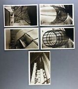 R100 British Airship Five Different Real Photo Postcards Rppc - Raf - Dirigible