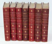1868 7 Volume Set Thomas Carlyle Leather Binding Limited Edition Original Signed