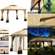 Pamapic 10and039x12and039 Outdoor Patio Garden Gazebo Tent Outdoor Shading Gazebo Canopy