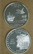 State Quarter Cameo Proofs Two 90 Silver Coins New Hampshire Florida M-3123