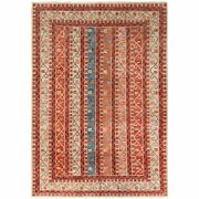 6and0392x8and0398 Colorful Super Kazak With Shawl Design Hand Knotted Wool Rug G61156