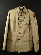 Wwi Us Army 7th Infantry Division Uniform Coat Chinos Headquarters Orig. Rare