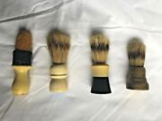 Vintage Shaving Brushes Lot Of 4 Ever-ready Williams Rubberset
