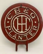 Antique Cb And Q Sold By International Harvester 1920and039s Cast Iron Seed Planter Lid