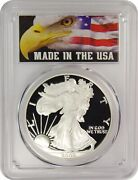 2005-w Pcgs Pr70dcam Silver Eagle Made In The Usa Label