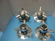 4 Centerline 3 Bar Spinner Caps 5 Lug Convo Pro Wheels Vintage Ford Chevy Cars