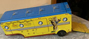 Vintage Marx Tin Lithograph Roy Rogers Trailer