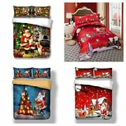 Christmas Red Duvet Cover Set For Comforter Twin/queen/king Bedding Set Us