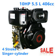 186f 4 Stroke Diesel Engine Single Cylinder Max.output 6.3kw 406cc 10hp Us Stock