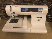 White W3300 Embroidery Sewing Machine Only - White - Repair/parts As-is Sale